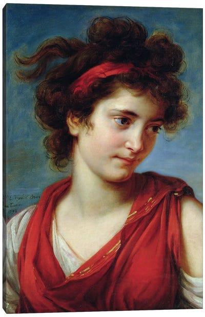Portrait Of Maguerite Porporati, 1792 Canvas Art Print