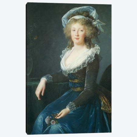Portrait Of Maria Teresa Of Bourbon-Naples, 1790 Canvas Print #BMN7868} by Elisabeth Louise Vigee Le Brun Canvas Art