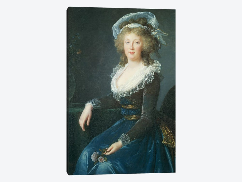 Portrait Of Maria Teresa Of Bourbon-Naples, 1790 by Elisabeth Louise Vigee Le Brun 1-piece Canvas Wall Art