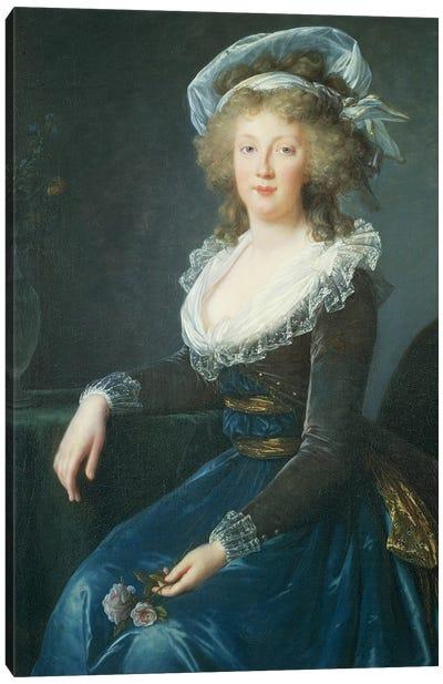 Portrait Of Maria Teresa Of Bourbon-Naples, 1790 Canvas Art Print