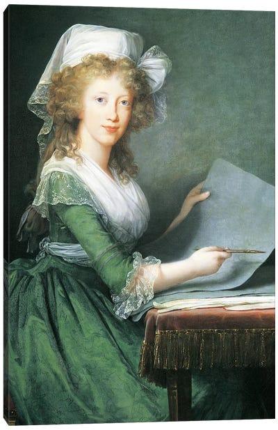 Portrait of Luisa Maria Amalia Teresa Of Bourbon-Sicily, 1790 Canvas Art Print