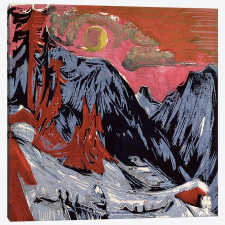 Mountains in Winter, 1919  Canvas Print #BMN786} by Ernst Ludwig Kirchner Canvas Artwork
