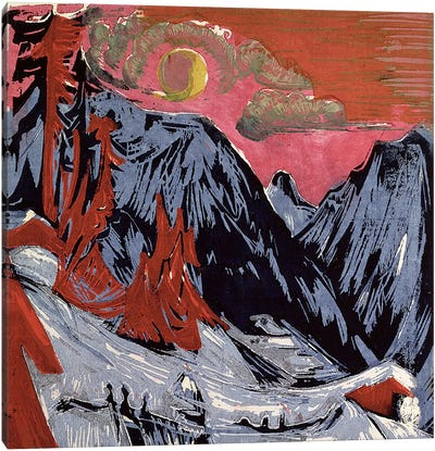 Mountains in Winter, 1919  Canvas Art Print