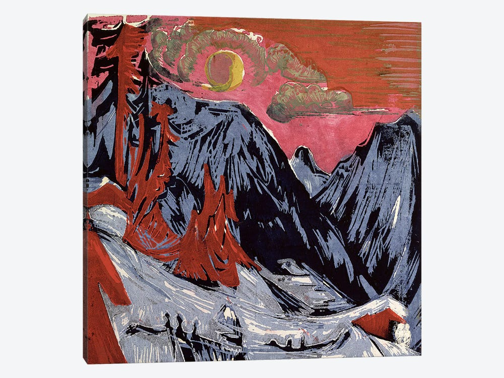 Mountains in Winter, 1919  by Ernst Ludwig Kirchner 1-piece Canvas Wall Art