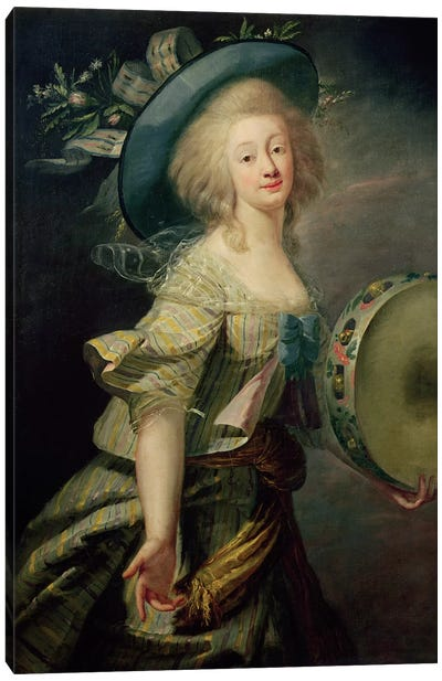 Portrait Of Marie-Anne De Cupis (1710-70) Also Known As La Camargo Canvas Art Print