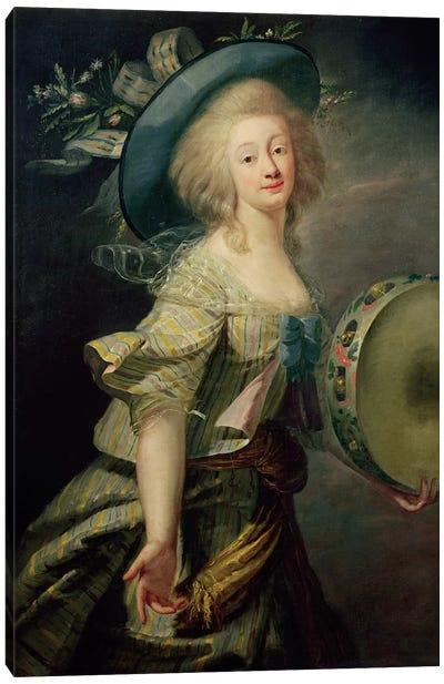 Portrait Of Marie-Anne De Cupis (1710-70) Also Known As La Camargo Canvas Art Print
