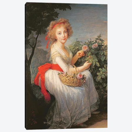 Portrait Of Marie-Christine Of Bourbon-Naples (1779-1849) 3-Piece Canvas #BMN7871} by Elisabeth Louise Vigee Le Brun Art Print