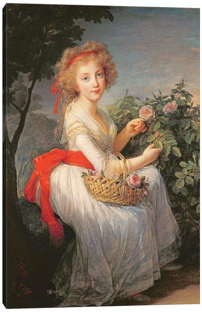 Portrait Of Marie-Christine Of Bourbon-Naples (1779-1849) Canvas Art Print