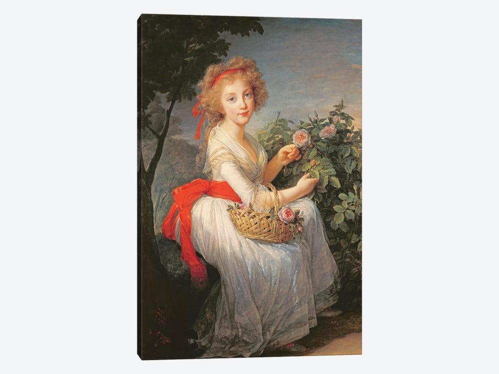 Portrait Of Marie-Christine Of Bourbon-Naples (1779-1849) by Elisabeth Louise Vigee Le Brun 1-piece Canvas Wall Art