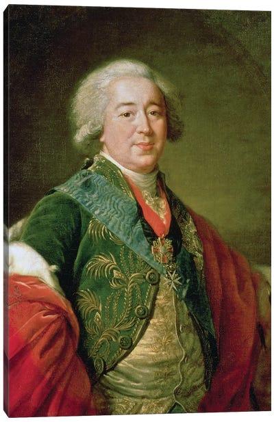 Portrait Of Prince Alexander Borisovich Kurakin (1752-1818), 1797 Canvas Art Print