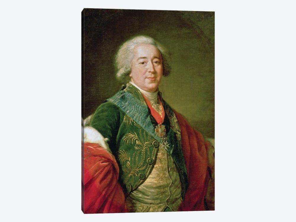 Portrait Of Prince Alexander Borisovich Kurakin (1752-1818), 1797 by Elisabeth Louise Vigee Le Brun 1-piece Canvas Print