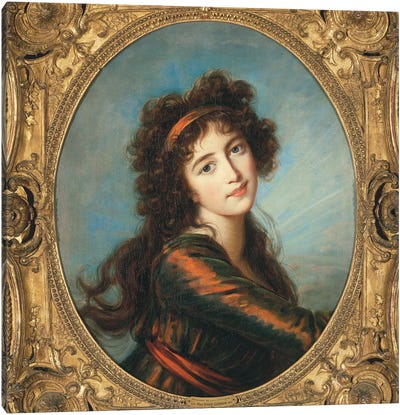 Portrait Of Princess Caroline de Liechtenstein Canvas Art Print