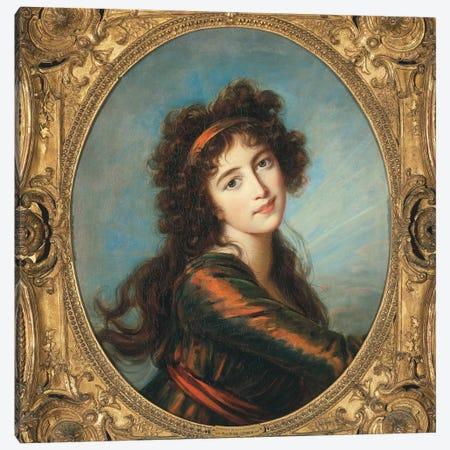 Portrait Of Princess Caroline de Liechtenstein Canvas Print #BMN7874} by Elisabeth Louise Vigee Le Brun Canvas Wall Art