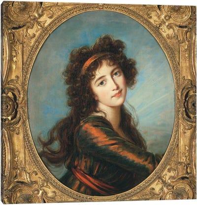 Portrait Of Princess Caroline de Liechtenstein Canvas Art Print