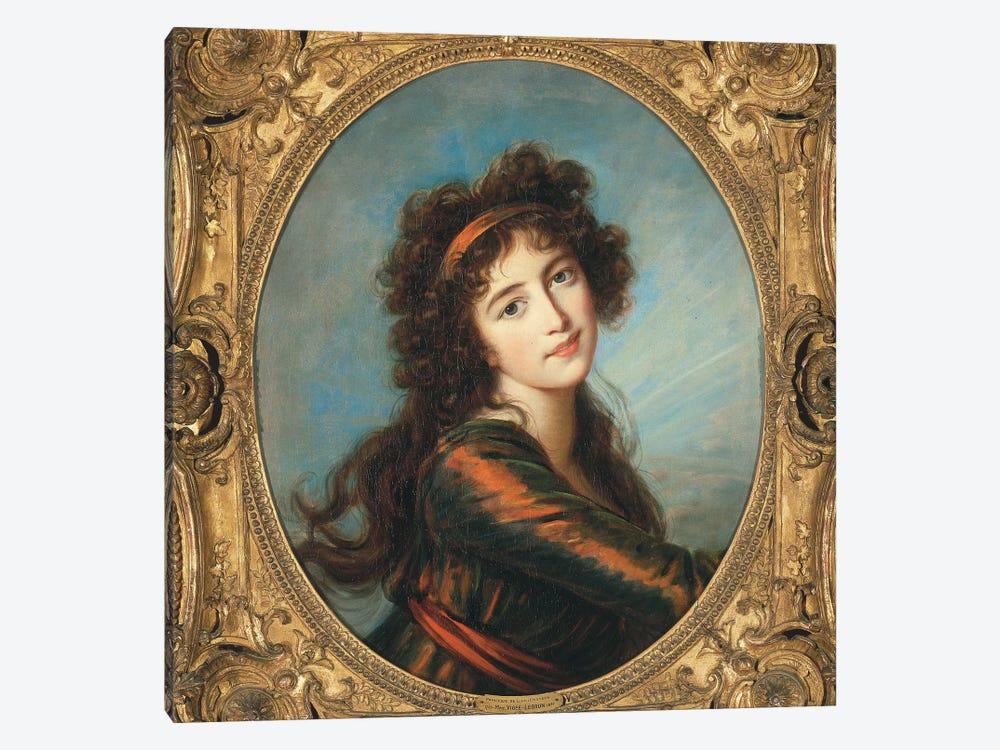 Portrait Of Princess Caroline de Liechtenstein by Elisabeth Louise Vigee Le Brun 1-piece Art Print
