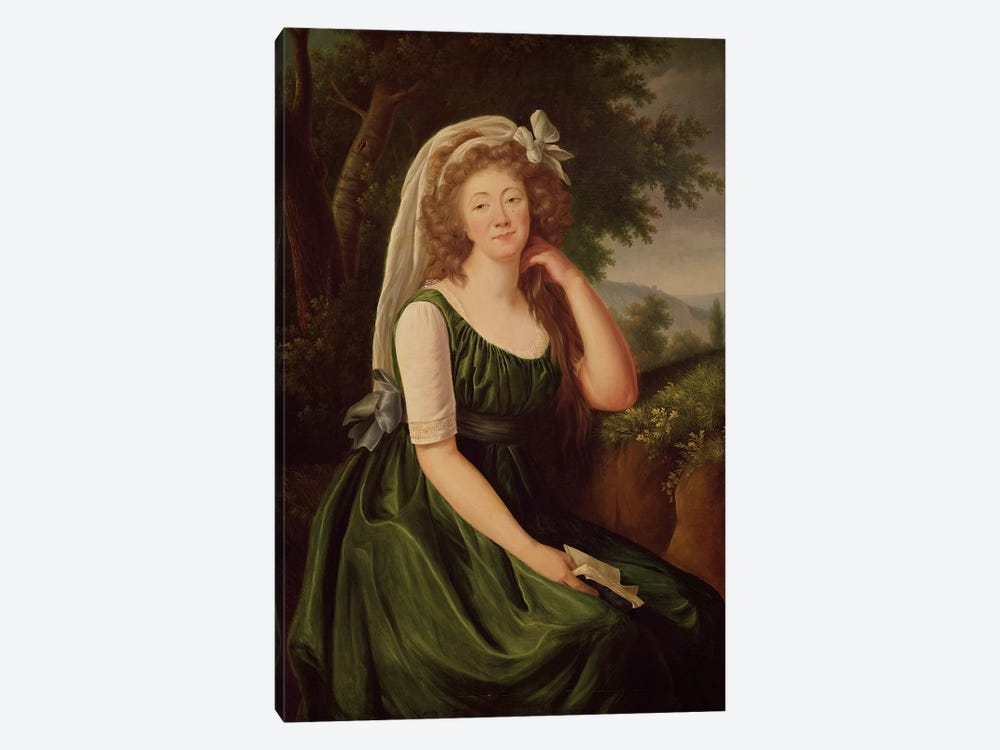 Portrait Of The Countess Du Barry (1743-93) 1789 by Elisabeth Louise Vigee Le Brun 1-piece Canvas Wall Art