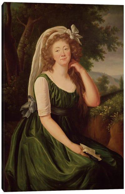 Portrait Of The Countess Du Barry (1743-93) 1789 Canvas Art Print