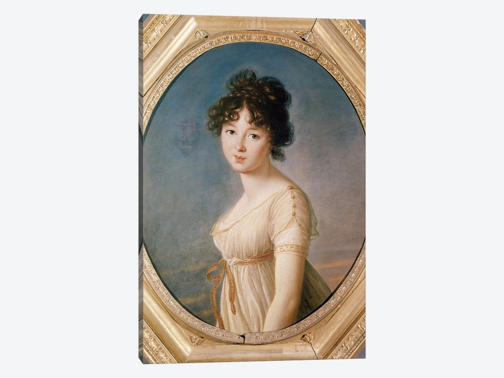 Princess Aniela Angelique Czartoryska Nee Radziwill, 1802 by Elisabeth Louise Vigee Le Brun 1-piece Canvas Art