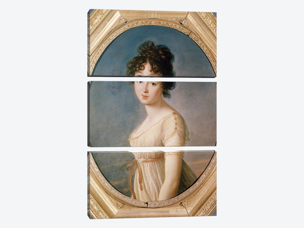 Princess Aniela Angelique Czartoryska Nee Radziwill, 1802 by Elisabeth Louise Vigee Le Brun 3-piece Canvas Artwork