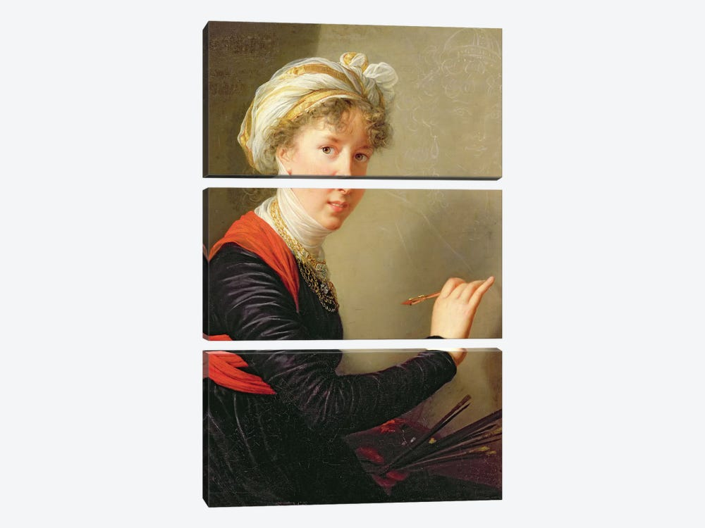 Self Portrait, 1800 by Elisabeth Louise Vigee Le Brun 3-piece Canvas Art Print