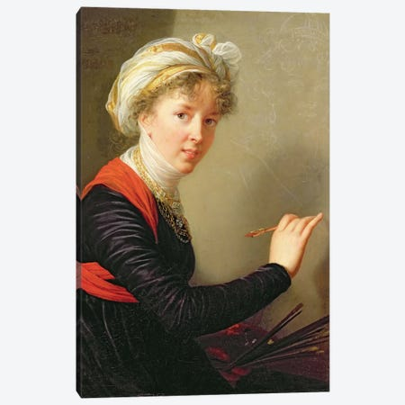 Self Portrait, 1800 3-Piece Canvas #BMN7881} by Elisabeth Louise Vigee Le Brun Canvas Artwork