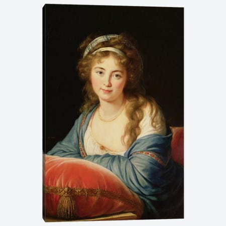 The Countess Catherine Vassilievna Skavronskaia (1761-1869) 1796 Canvas Print #BMN7882} by Elisabeth Louise Vigee Le Brun Canvas Artwork