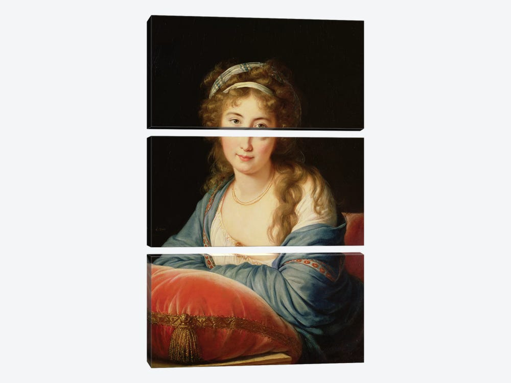 The Countess Catherine Vassilievna Skavronskaia (1761-1869) 1796 by Elisabeth Louise Vigee Le Brun 3-piece Canvas Wall Art