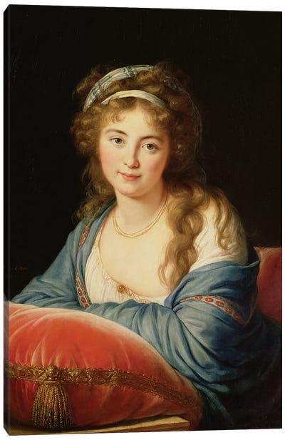 The Countess Catherine Vassilievna Skavronskaia (1761-1869) 1796 Canvas Art Print