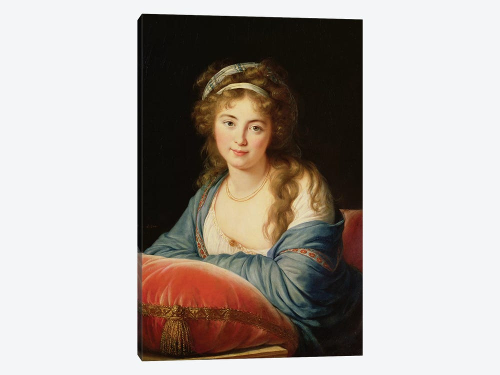 The Countess Catherine Vassilievna Skavronskaia (1761-1869) 1796 by Elisabeth Louise Vigee Le Brun 1-piece Canvas Wall Art