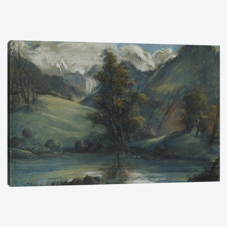 View Of The Lake Of Challes And Mont Blanc, 1807-1808 Canvas Print #BMN7887} by Elisabeth Louise Vigee Le Brun Canvas Print