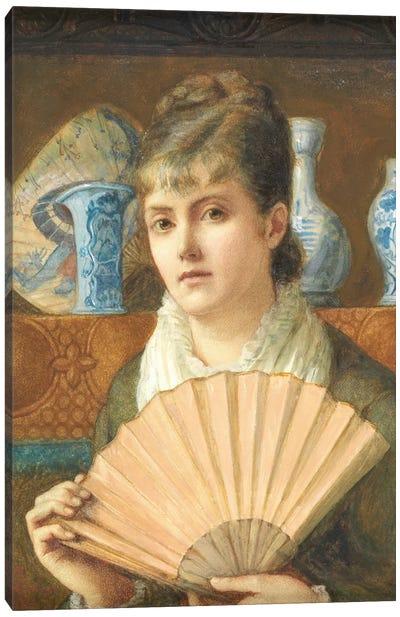 A Modern Young Woman Canvas Art Print
