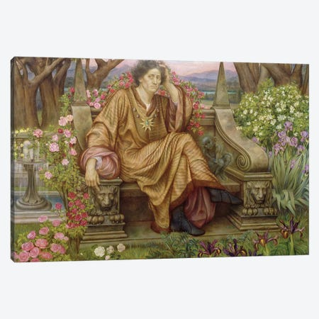 A Soul In Hell Canvas Print #BMN7889} by Evelyn De Morgan Canvas Art