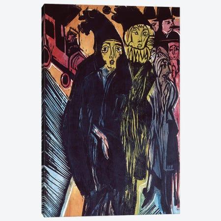 Street Scene  Canvas Print #BMN788} by Ernst Ludwig Kirchner Art Print