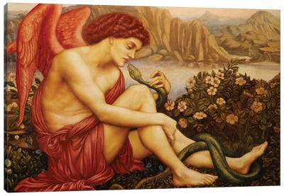 Angel With Serpent Canvas Art Print