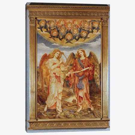 Angels 3-Piece Canvas #BMN7892} by Evelyn De Morgan Canvas Art Print