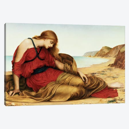 Ariadne In Naxos, 1877 3-Piece Canvas #BMN7893} by Evelyn De Morgan Art Print