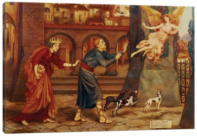 Blindness And Cupidity Chasing Joy From The City, 1897 Canvas Art Print