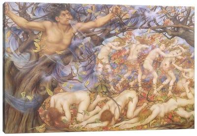 Boreas And Fallen Leaves Canvas Art Print