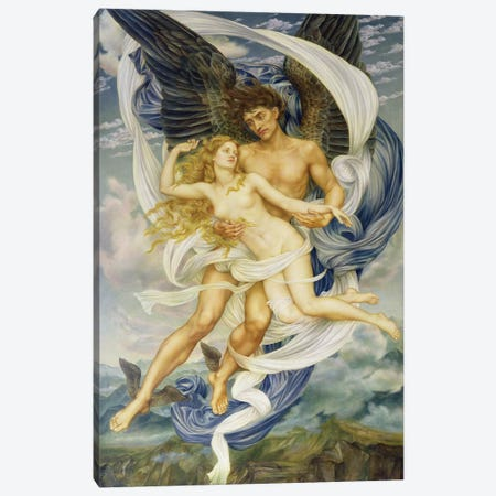 Boreas And Oreithyia, 1896 Canvas Print #BMN7896} by Evelyn De Morgan Canvas Art