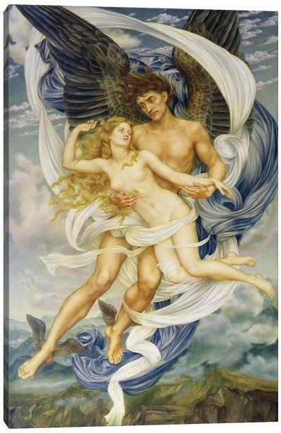 Boreas And Oreithyia, 1896 Canvas Art Print