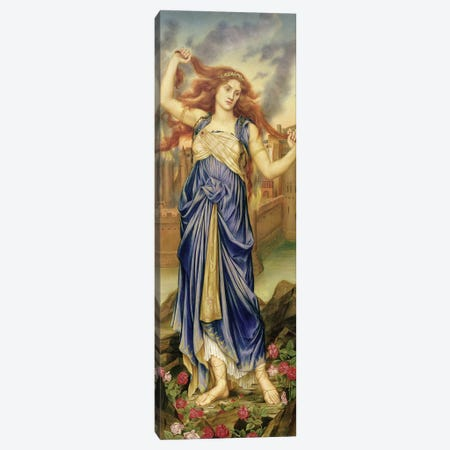 Cassandra, 1898 Canvas Print #BMN7897} by Evelyn De Morgan Canvas Wall Art
