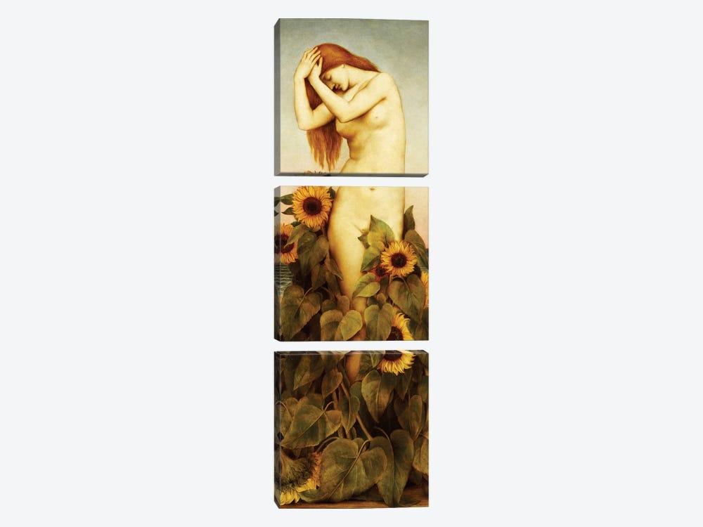 Clytie, 1886-87 by Evelyn De Morgan 3-piece Canvas Print