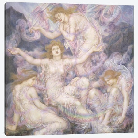 Daughters Of The Mist Canvas Print #BMN7899} by Evelyn De Morgan Art Print