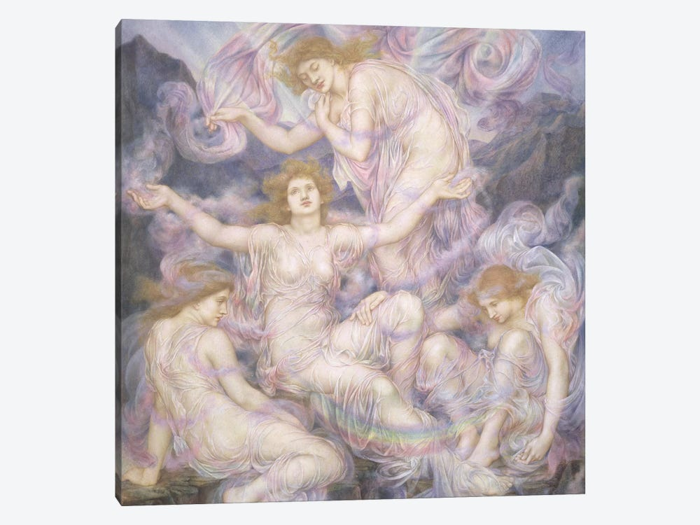Daughters Of The Mist by Evelyn De Morgan 1-piece Canvas Wall Art