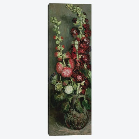 Vase of Hollyhocks, 1886  Canvas Print #BMN789} by Vincent van Gogh Canvas Print