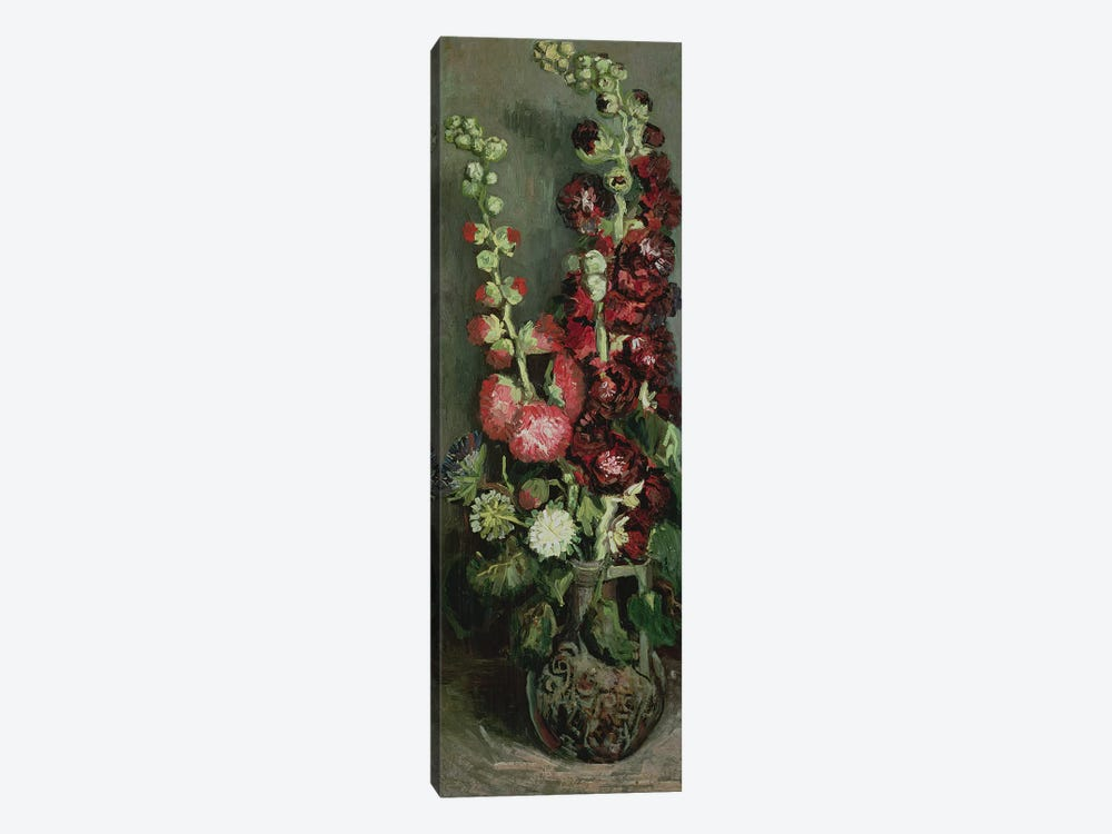 Vase of Hollyhocks, 1886  by Vincent van Gogh 1-piece Canvas Art Print