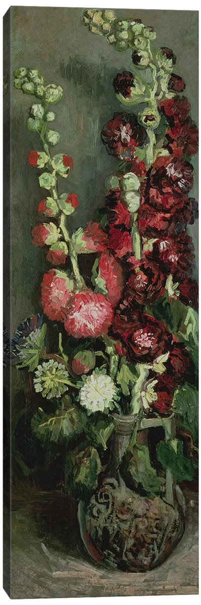 Vase of Hollyhocks, 1886  Canvas Art Print