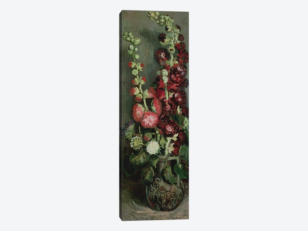 Vase of Hollyhocks, 1886  by Vincent van Gogh 1-piece Canvas Art Print