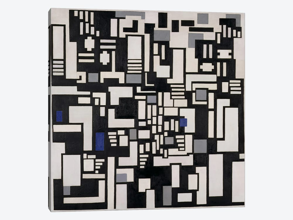 Composition IX, opus 18, 1917 by Theo Van Doesburg 1-piece Canvas Print