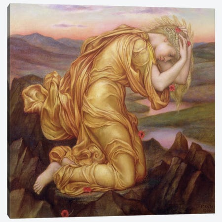 Demeter Mourning For Persephone, 1906 Canvas Print #BMN7900} by Evelyn De Morgan Art Print